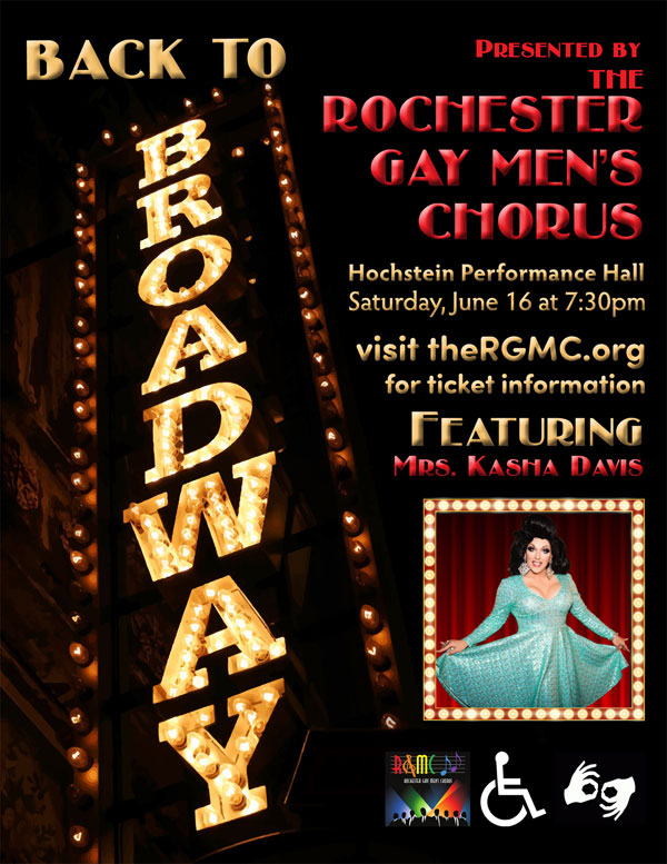 "Rochester Gay Men's Chorus - ""Back to Broadway"""