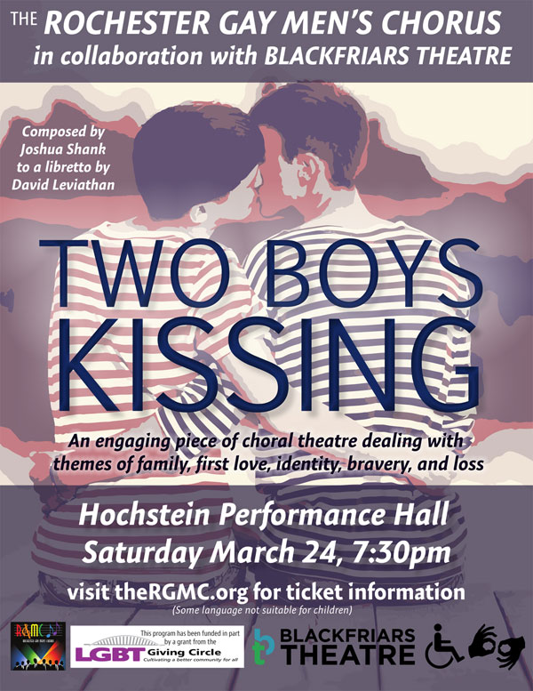 "Rochester Gay Men's Chorus - ""Two Boys Kissing"""