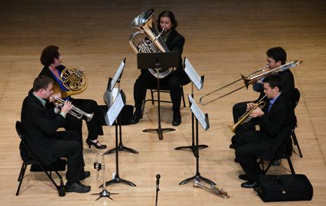 brass quintet at Hochstein